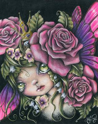 Eyes Mixed Media - Spring Queen by Sour Taffy