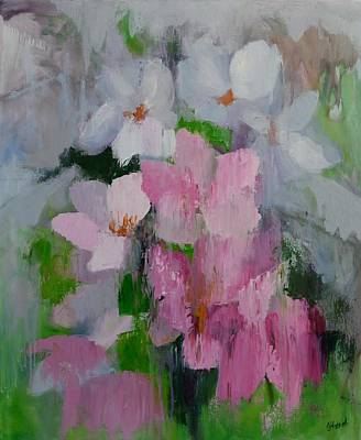 Painting - Spring Rain Oil Painting by Chris Hobel
