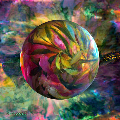 Sphere Painting - Spring Rhapsody by Robin Moline