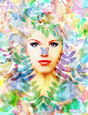 Goddess Digital Art Mixed Media - Spring Rhapsody  by Stacey Chiew