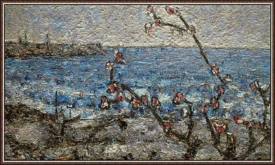 Post Impressionism Mixed Media -     Spring Sea by Pemaro