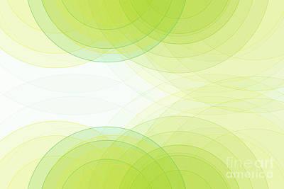 Digital Art - Spring Semi Circle Background Horizontal by Frank Ramspott