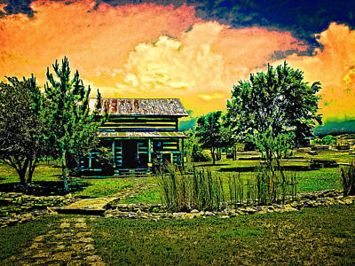 Cabin Photograph - Spring Storm Up Near Fredericksburg Texas by Chas Sinklier