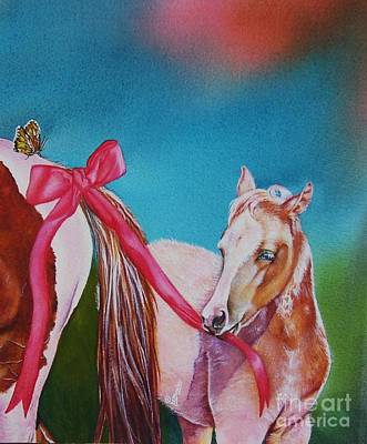 Pinto Painting - Spring Tails by Deborah Stanley