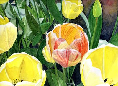 Spring Bulbs Painting - Spring- Tulips by Swati Singh
