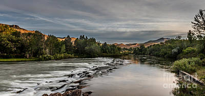 Spring View Of The Payette River Print by Robert Bales