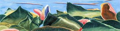 Spring Waterlilies Print by Jan Amiss