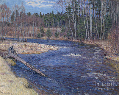 Forest Painting - Spring Waters by Celestial Images