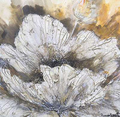 Floral Art Painting - Spring White Flower by Irina Rumyantseva