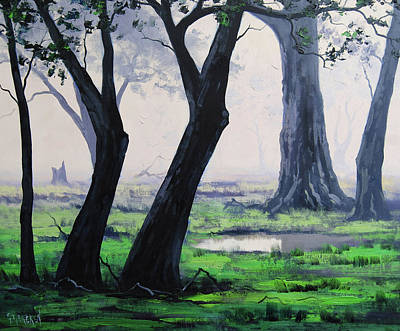 From Nature Painting - Spring Woodland by Graham Gercken