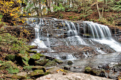 Stream Photograph - Springfield Falls by Pittsburgh Photo Company
