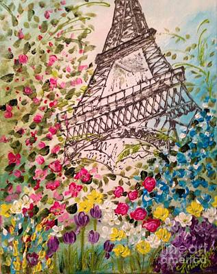 Springtime In Paris Print by Angela Anderson