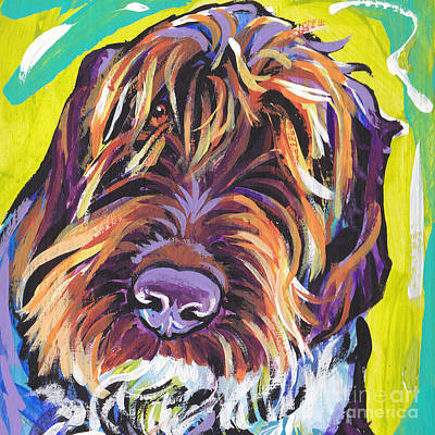 Dog Portrait Painting - Spumoni Spinone by Lea S