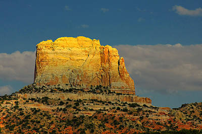Navajo Photograph - Square Butte - Navajo Nation Near Kaibeto Az by Christine Till