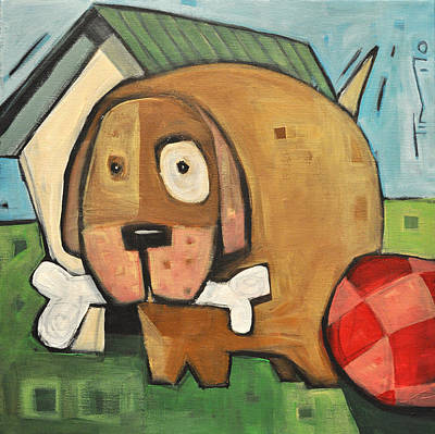 Square Dog Print by Tim Nyberg