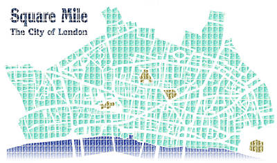 Square Mile - Digital Original by Gary Hogben