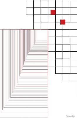Fine Art Painting - Square Path - Minimalist Geometric Abstract Painting by Katrina Britt