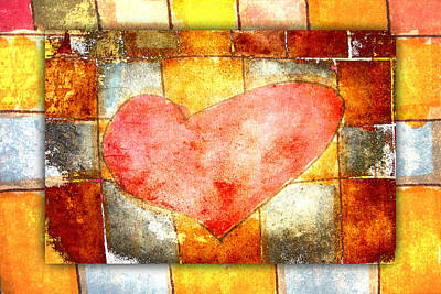 Squared Heart Print by Carol Leigh