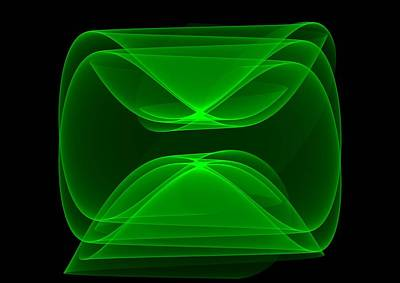 Forms Digital Art - Squarefaced - Da by Leonardo Digenio
