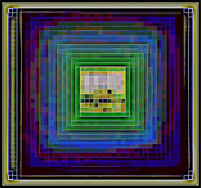 Squares In A Square.  Original by Maya Bukhina