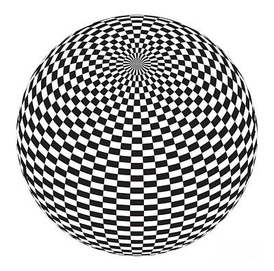 Fluttering Digital Art - Squares On The Ball by Michal Boubin