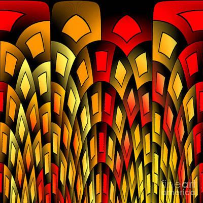 Algorithmic Digital Art - Squares Pattern by Gaspar Avila