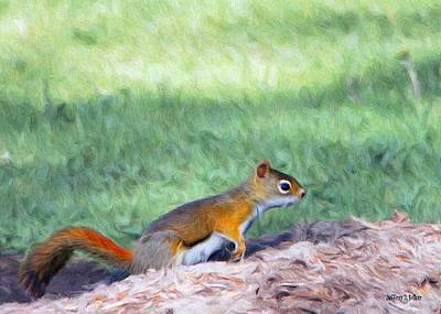 Squirrel Digital Art - Squirrel In The Park by Jeff Kolker