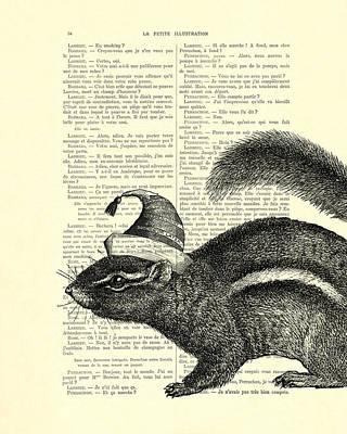 Tassel Digital Art - Squirrel With Hat by Madame Memento