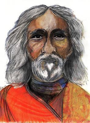 Yogananda Painting - Sri Yukteswar Giri by Roger Hanson