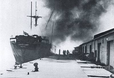 Texas Cities Photograph - Ss Grandcamp - Texas City Disaster by The Titanic Project
