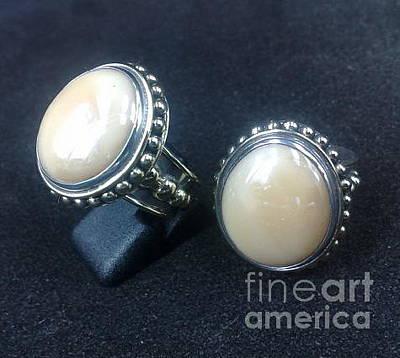 Ss Ring With Santa Fe Glass Gem Marbles  Original by fmnjewel - Fernando Situmeang