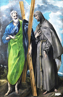 Mannerism Painting - St. Andrew And St. Francis by El Greco