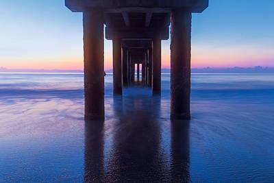 St Augustine Beach Pier Print by Stefan Mazzola
