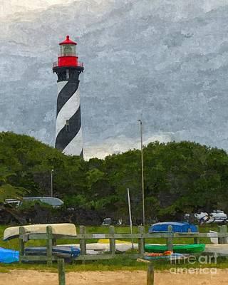 Lighthouse Mixed Media - St. Augustine Lighthouse Boat Ramp by Jennifer Capo