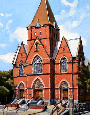 Boston Painting - St. Augustine's Church by Deb Putnam