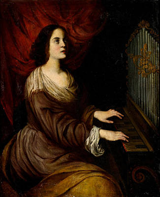 St Cecilia Painting - St Cecilia by Andrea Vaccaro