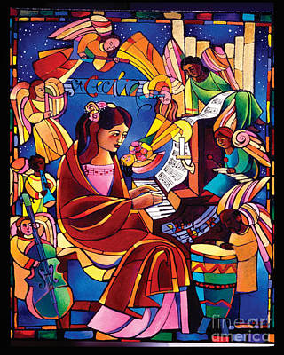 St. Cecilia - Mmcca Print by Br Mickey McGrath OSFS