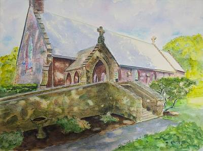 St. Columba's Episcopal Chapel Middletown Ri Original by Patty Kay Hall