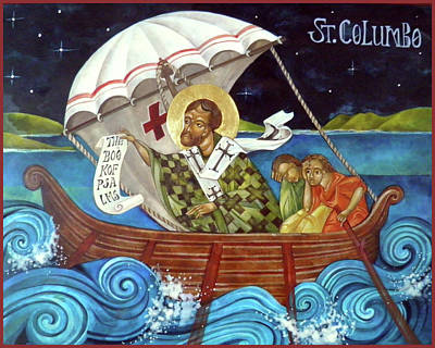 St Columbo Print by Mary jane Miller