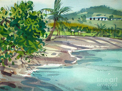 Coconut Painting - St. Croix Beach by Donald Maier
