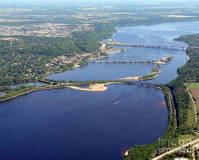 St Croix Lake And River Print by Bill Lang