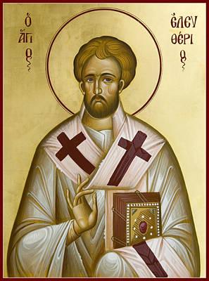 St Eleftherios Painting - St Eleftherios by Julia Bridget Hayes
