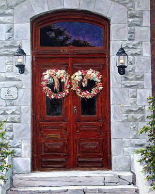 Quebec Painting - St-eustache Doors by Richard T Pranke