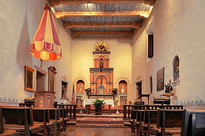 Altar Photograph - St Francis Chapel At Mission San Diego by Christine Till