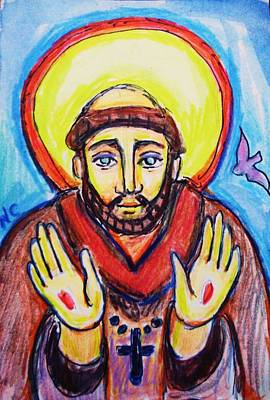 St. Francis Print by Nancy  Connolly