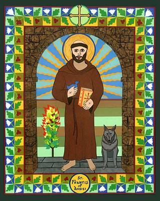 Religious Art Mixed Media - St. Francis Of Assisi Icon by David Raber