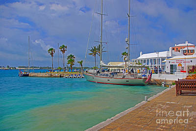 Photograph - St. George Harbor And Sailboat by Rich Walter