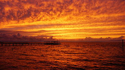 St. George Island Sunset Print by Paul  Wilford