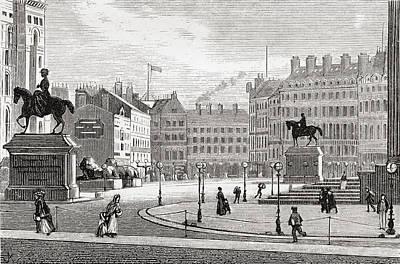 St. George S Square, Liverpool Print by Vintage Design Pics