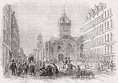 St Giles And The Old Tron Church Print by Vintage Design Pics